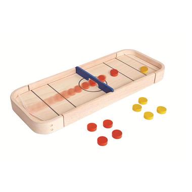 Plan Toys, Drewniana gra Shuffleboard i Cymbergaj 2w1