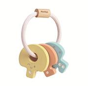 Plan Toys, Pastelowa grzechotka klucze