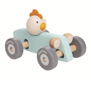 Plan Toys, Pastelowa rajdówka z kurczakiem