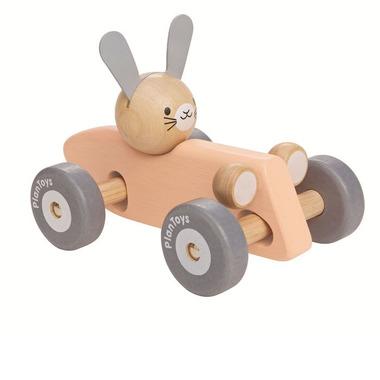 Plan Toys, Pastelowa rajdówka z królikiem