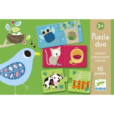 Djeco, puzzle duo zwierzątka