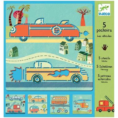 Djeco, szablon do rysowania - Pojazdy