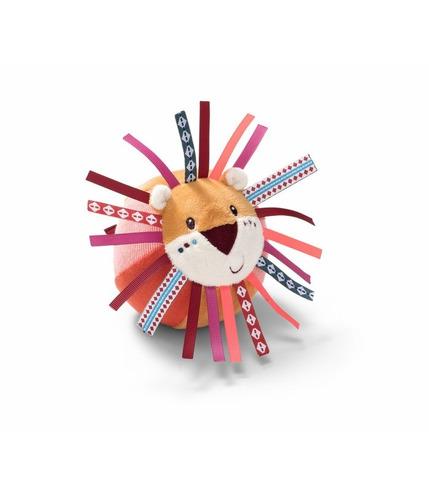 Lilliputiens, Materiałowa piłka z dzwoneczkiem Dżungla Lew Jack