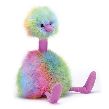 Jellycat, Struś kolorowy 53cm