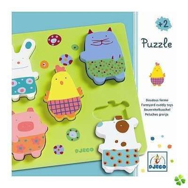Djeco, puzzle drewniane Zwierzątka z farmy