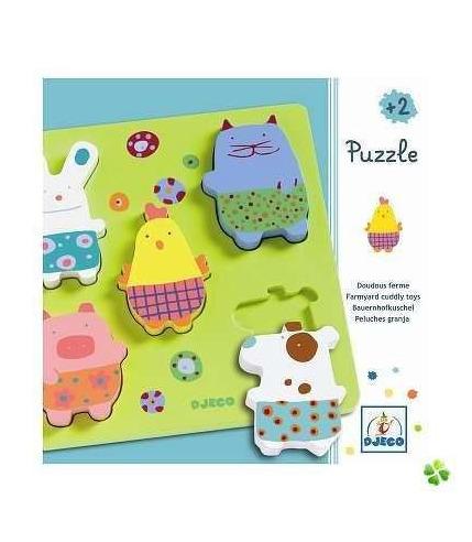 Puzzle drewniane Zwierzątka z farmy Djeco