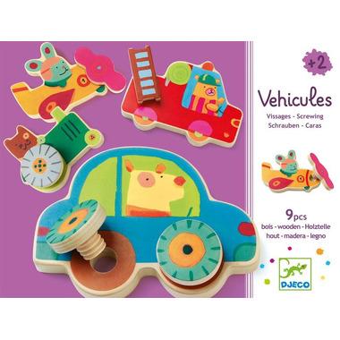 Djeco, wkrętki pojazdy