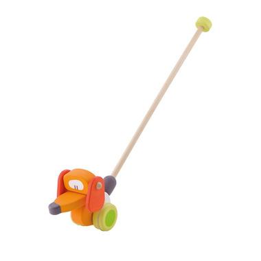 Sevi, Drewniana zabawka do pchania, piesek z ruchomą główką