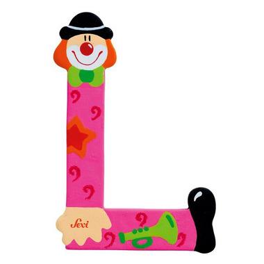 Sevi, Drewniana literka L, Clown