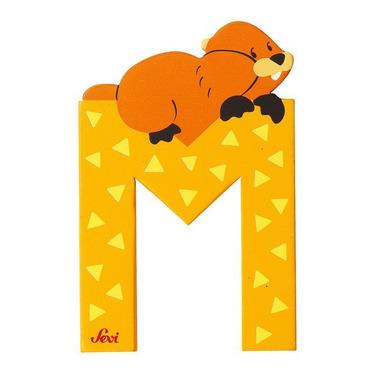 Sevi, Drewniana literka M, zwierzęta