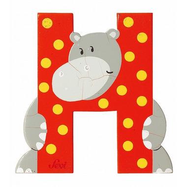 Sevi, Drewniana literka H, zwierzęta