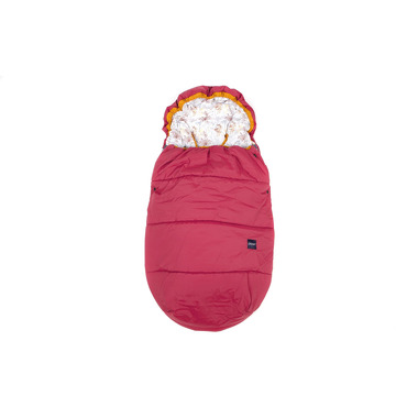 Poofi, Zestaw zimowy śpiworek i mufka czerwony - kopry
