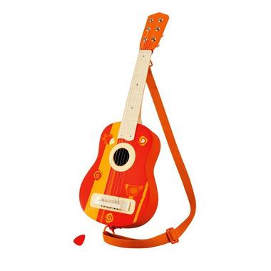 Sevi, Kolorowa, drewniana gitara z rybką i ptaszkiem