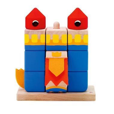 Sevi, Układanka na palikach z klocków drewnianych, Zamek smoka