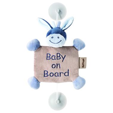 Nattou, Alex & Bibou, Zawieszka z przyssawkami Baby on Board Osiołek Alex