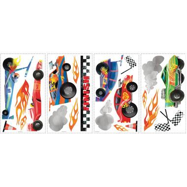 RoomMates, naklejki  wielokrotnego użytku - Samochody wyścigowe