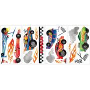 Naklejki do wielokrotnego użytku - Samochody wyścigowe