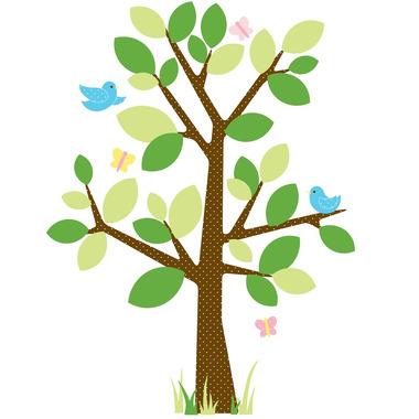 RoomMates, naklejki wielokrotnego użytku - Wiosenne drzewo