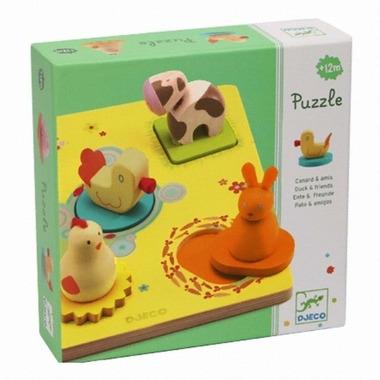 Djeco, drewniane puzzle wyciagane
