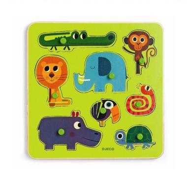 Djeco, puzzle - zwierzątka z dżungli
