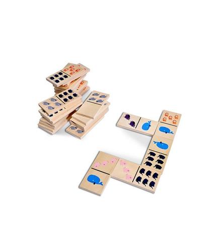 Buiten Speel, Domino drewniane Zwierzątka