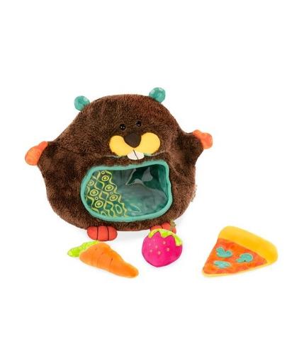 Btoys, Pluszowy bóbr ze smakołykami sensorycznymi w brzuchu - Yumsy Tumsy