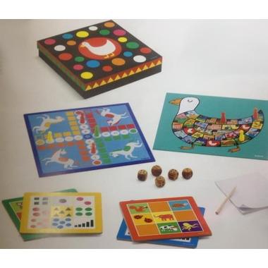 Djeco, Zestaw 12 gier CLASSIC BOX 4+