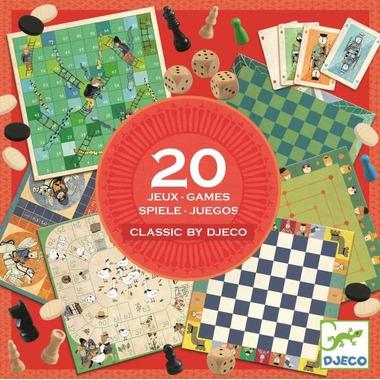 Djeco, Zestaw 20 gier CLASSIC BOX