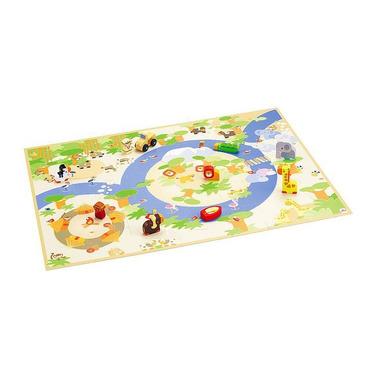 Sevi, Puzzle safari z figurkami drewnianymi 2w1, 45 el.
