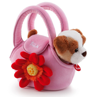 Trudi, Piesek w różowej torebce z kwiatkiem