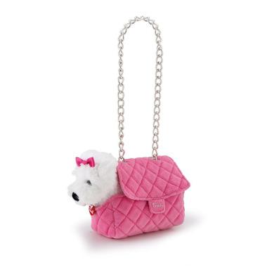 Trudi, Piesek w różowej torebce z łańcuszkiem