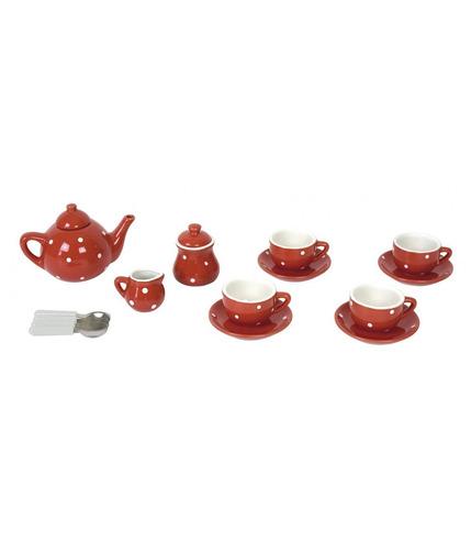 JaBaDaBaDo, Porcelanowy serwis do herbaty czerwony