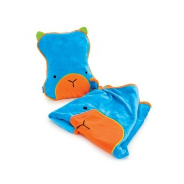 Trunki, poduszka i kocyk podróżny SnooziHedz niebieski