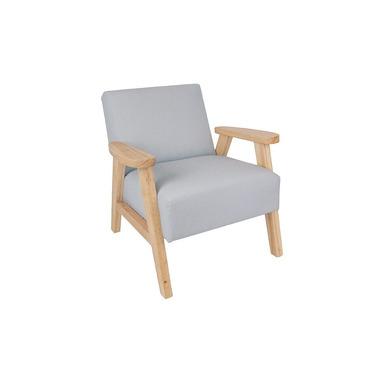 JaBaDaBaDo, Fotel dziecięcy szary z naturalnymi dodatkami