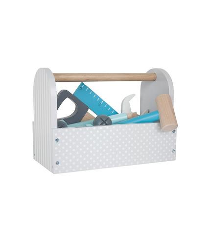 JaBaDaBaDo, Drewniana szara skrzynia z narzędziami