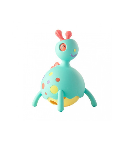 Fat Brain Toy, Rollobie Niebieski - Gryzak, jeździk, grzechotka