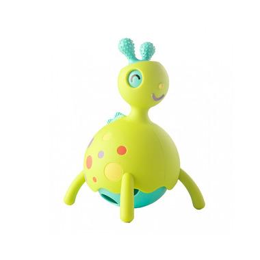 Fat Brain Toy, Rollobie Zielony - Gryzak, jeździk, grzechotka