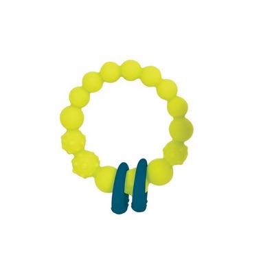 Btoys, Gryzak silikonowy - KÓŁKO z pierścieniami - limonkowy