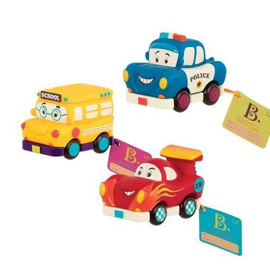 Btoys, Zestaw 3 mini autek z radiowozem