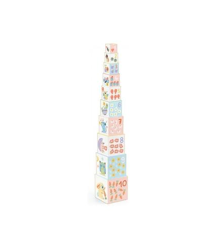 Djeco, Wieża z kostek BABY BLOKI