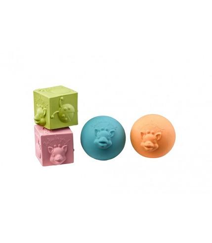 Vulli, Zestaw kolorowych piłek i kostek So'Pure