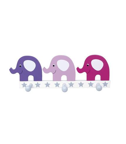 JaBaDaBaDo, Wieszak różowe słonie - potrójny