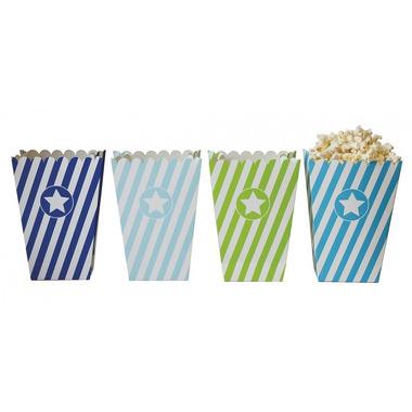 JaBaDaBaDo, Tekturowe pudełka na popcorn blue