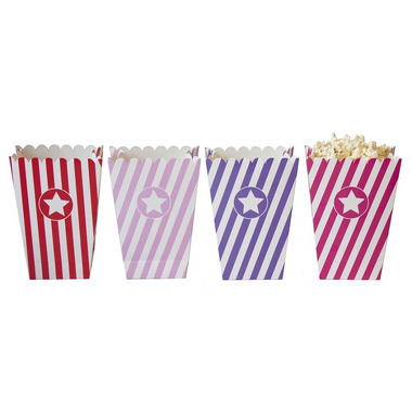 JaBaDaBaDo, Tekturowe pudełka na popcorn pink