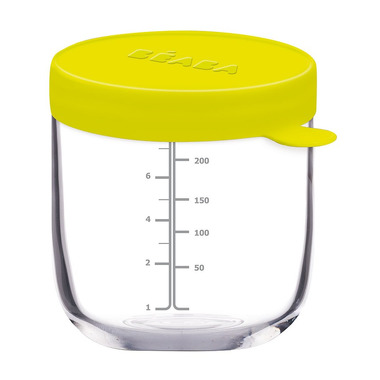 Beaba, Pojemnik słoiczek szklany z hermetycznym zamknięciem 250 ml neon