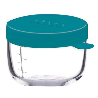 Beaba, Pojemnik słoiczek szklany z hermetycznym zamknięciem 150 ml blue