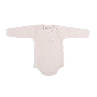 Baby's Only, Body tkane w prążki z długim rękawem, Różowe, rozmiar 68