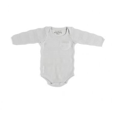 Baby's Only, Body tkane w prążki z długim rękawem, Szare, rozmiar 68
