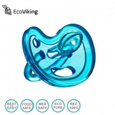 Eco Viking , Anatomiczny Smoczek Uspokajający SiliMed Blue wiek 6m+
