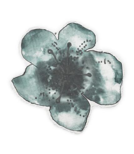 Elodie Details, Kocyk Bambusowy Embedding Bloom Petrol